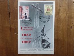 REPUBBLICA - Marcofilia - 10° Anniversario Radio Vaticana - Annulli Congiunti + Spese Postali - 1946-.. Republiek
