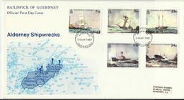ALDERNEY (s) 32/6 En Sobre. Cat.35 € - Alderney