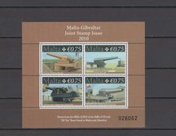 Malta 2010 Michel Block 45 Guns S/s MNH (joint Issue With Gibraltar) - Malta