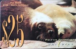AUSTRALIE  -  Prepaid  -  UNIDIAL  -  Fur Seals  -  $ 25 - Australië