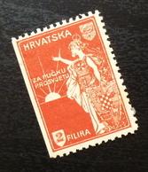 Croatia C1920 Yugoslavia Charity Stamp Cinderella B2 - Verzamelingen & Reeksen