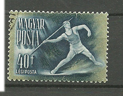 Hungary 1950 Sport, Javelin, Mi 1135 Cancelled(o) - Used Stamps
