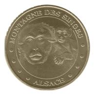 Monnaie De Paris , 2010 , Kintzheim , Montagne Des Singes , La Mère Et Son Petit - Monnaie De Paris