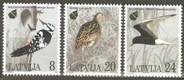 1995Latvia403-405European Nature Conservation Year - Marine Web-footed Birds