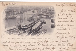 29 BREST Port Militaire Le Pont Tournant ,philatèlie Timbre Type Sage 5 C N°64 1899 - Brest