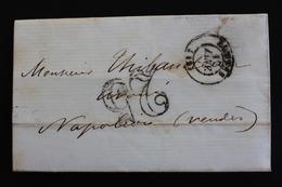 LAC CAD NANTES 17/01/18? POUR NAPOLEON-VENDEE CAD DU 18/01 TAXE TAMPON 25 CENTIMES. - 1849-1876: Klassik