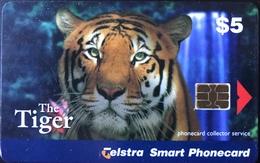 AUSTRALIE  -  Phonecard  -  Telstra Smart Phonecard   -  The Tiger  -  $ 5 - Australië