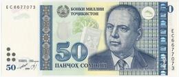 TAJIKISTAN TADJIKISTAN TADSCHIKISTAN 50 SOMONI P- 26a Bobojon Gafurov - Choikhanai Sibne Tea House 1999 / 2013 UNC - Tadschikistan