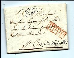 Lettre De VANNES 1813 En PORT PAYÉ - BELLES FRAPPES - ARCHIVE GALLES - VANNES - 1801-1848: Voorlopers XIX