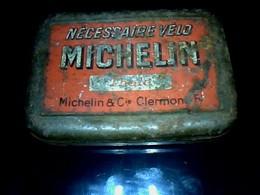 Publicité Boîte En Métal Michelin ()nécessaire Vélo) Dans Son Jus Voir.photos - Scatole