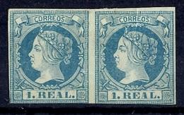 Espagne YT N° 51 En Paire Neufs (*). B/TB. A Saisir! - 1850-68 Reino: Isabel II