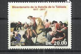 BOLIVIA 2017 - LA TABLADA BATTLE - USED OBLITERE GESTEMPELT USADO - Bolivie