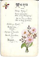 MENU MARIAGE 31 MAI 1897 CRIQUETOT-OUVILLE 76 SEINE MARITIME - Menú