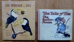 2 LIVRES ENFANT THE TALE OF TIM THE SAILOR-MOUSE (E. ARIS) + LES OISEAUX DU ZOO - Contes