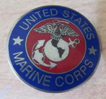 Etats-Unis / USA - Insigne / Badge Militaire UNITED STATES MARINE CORPS - Métal Et émail - Marine