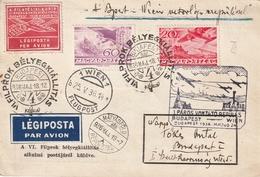Storia Postale Ungheria Cartolina Viaggiata Posta Aerea - Hungary
