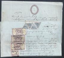 Venda De Terreno Na Covilhã Em Papel Selado Do Prado 1895, Imposto De Selo De 100rs Com Adicional De 8 Stamps Fiscais.3s - Portugal