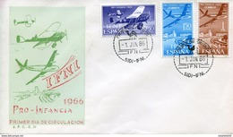"Maroc;Ifni ; FDC 1er Jour; 1966 ; Primer Dia ; "" Pro Infancia ""Morocco,Marruecos - Ifni"