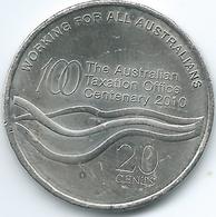 Australia - Elizabeth II - 20 Cents - 2010 - 100th Anniversary Of The Taxation Office - KM1513 - Decimal Coinage (1966-...)