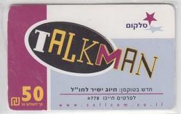 ISRAEL CELLCOM TALKMAN 50 75 SHEKELS - Israel