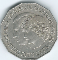 Australia - Elizabeth II - 1981 - 50 Cents - Royal Wedding - K72 - Decimal Coinage (1966-...)