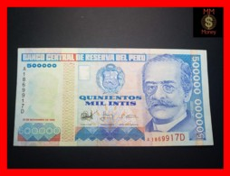 PERU 500.000 500000 Intis 21.11.1988 P.146 TDRL  VF + \ XF - Perù