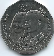 Australia - 2011 - Elizabeth II - 50 Cents - Royal Wedding - William & Kate - KM1567 - 50 Cents