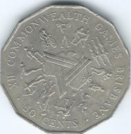 Australia - 1982 - 50 Cents - Brisbane Commonwealth Games - KM74 - Decimal Coinage (1966-...)