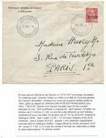 GANDON 6FR N°721 JERUSALEM TYPE I LETTRE NOV 1948 POSTES FRANCAISES + ENTETE CONSULAT GENERAL DE FRANCE - 1945-54 Marianne De Gandon