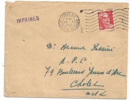 GANDON 6FR N°721A SEUL LETTRE PARIS 29.X.1948 TARIF IMPRIME 2EME - 1945-54 Marianne De Gandon