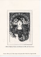 GRAVURE LA POSTE - 2004 - AFFICHE DE 1896 D'ALPHONSE MUCHA - SARAH BERNHARDT - COLLECTION VICTOR ARWAS - Post