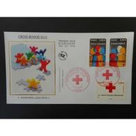 FDC Soie - Croix Rouge 2013 (env 1 Sur 2) - Oblit 7/11/2013 Paris - 2010-....
