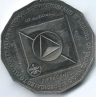 Australia - Elizabeth II - 2011 - 50 Cents - 60th Anniversary Of National Service - KM1521 - Decimal Coinage (1966-...)