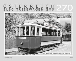 Austria 2019 - 125 Years Of The Gmunden Tramway Black Proof Mnh - 1945-.... 2. Republik