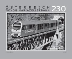 Austria 2019 - Mariazell Railway – Himmelstreppe Black Proof Mnh - 1945-.... 2. Republik