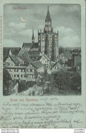 Gruss Aus Konstanz - Carte METEOR - Das Munster - 2 Scans - Contraluz