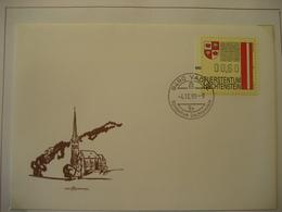 Liechtenstein- 11 Automatenmarken FDC (4.12.95) Mit Gemeindewappen Auf 11 Belegen MI.Nr. 1-11 - Collections