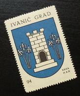 Croatia C1935 Yugoslavia Coffee Hag Poster Stamp Cinderella Coat Of Arm Ivanic Grad City  B3 - Verzamelingen & Reeksen