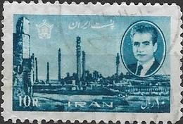1966 Sh Ah And Ruins Of Persepolis - 10r - Blue FU - Irán