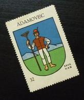 Croatia C1935 Yugoslavia Coffee Hag Poster Stamp Cinderella Coat Of Arm Adamovec B7 - Verzamelingen & Reeksen