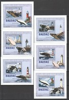 Y538 2007 MOCAMBIQUE MARINE LIFE ARCHITECTURE WHALES LIGHTHOUSE BALEIAS 6 LUX BL MNH - Balene