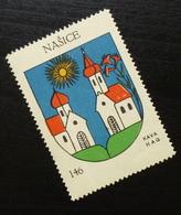 Croatia C1935 Yugoslavia Coffee Hag Poster Stamp Cinderella Coat Of Arm Nasice B8 - Verzamelingen & Reeksen