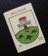 Croatia C1935 Yugoslavia Coffee Hag Poster Stamp Cinderella Coat Of Arm Bjelovar B15 - Verzamelingen & Reeksen