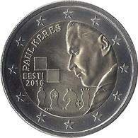 2E103 - ESTONIE - 2 Euros Commémorative - Paul Keres / 2016 - Estonie