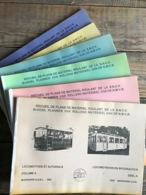 Recueil De Plans De Matériel Roulant De La SNCV Complet En 6 Tomes Locomotive Autorails Wagon Service Vapeur NMVB RARE - Chemin De Fer & Tramway