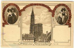 CPA 67 - Strasbourg Gruss Aus Strassburg Münster Cathédrale Et Alsaciennes - Strasbourg