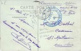 PHILATELIE / MARCOPHILIE / OBLITERATION Hopital Complémentaire Saint Malo / GUERRE 1914/1918 / CPA FRANCE 35 Cancale - Guerre Mondiale (Première)