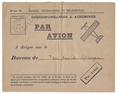 1939 - ENVELOPPE N° AV. 10 DÉPÊCHE CORRESPONDANCES À ACHEMINER PAR AVION Avec CACHET DAGUIN BEAUMONT SUR OISE - Poste Aérienne