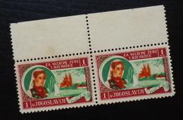 Yugoslavia C1937 Slovenia Croatia Charity Stamps (NG) For Blind Girls B1 - Verzamelingen & Reeksen
