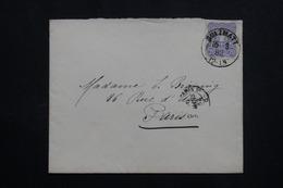 FRANCE / ALLEMAGNE - Enveloppe De Sulzmatt Pour Paris En 1882, Affranchissement Plaisant  - L 61930 - Marcophilie (Lettres)